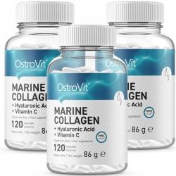 Marine Collagen with Hyaluronic Acid + Vitamin C - 3 x 120 caps (3 meses)
