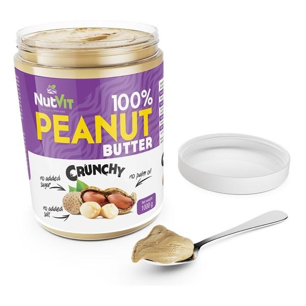100% Peanut Butter Crunchy (Crocante) - 1Kg Ostrovit Gourmet