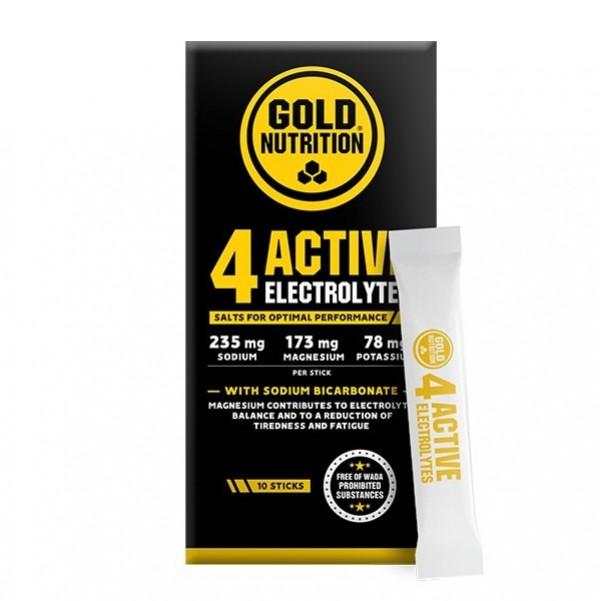 4 Active Electrolytes 10 Saquetas Gold Nutrition