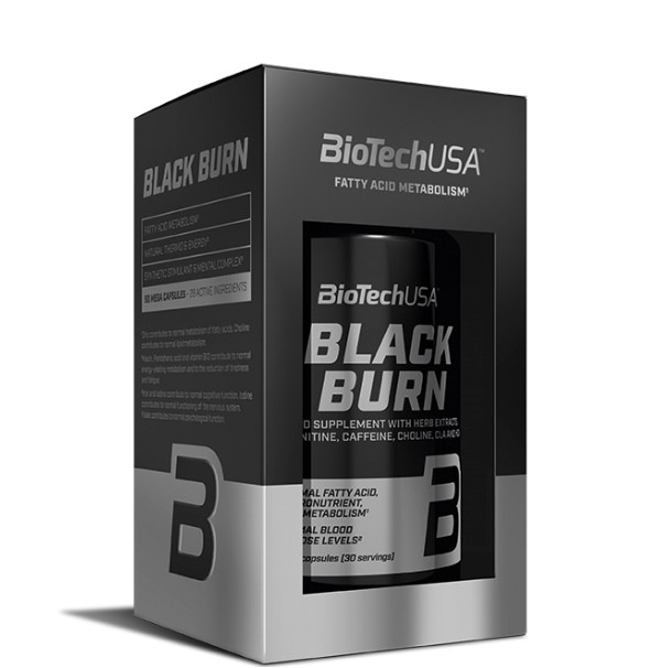 BLACK BURN - 90 cápsulas Biotech USA