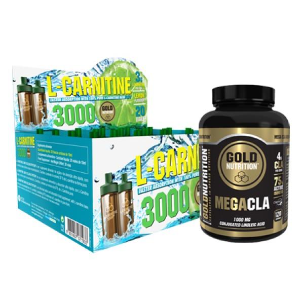 Mega Cla + L-Carnitine 3000 Gold Nutrition