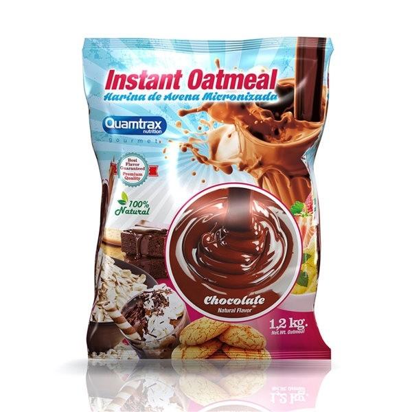 Instant Oatmeal - Farinha de Aveia Com Sabor -1,2Kg Quamtrax