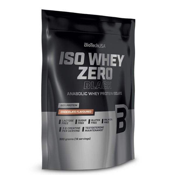Iso Whey Zero Black 500g Biotech USA Proteína Isolada Anabolica