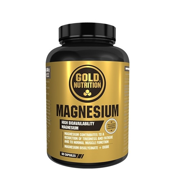 Magnesium - 60 cápsulas de 286mg - Gold Nutrition