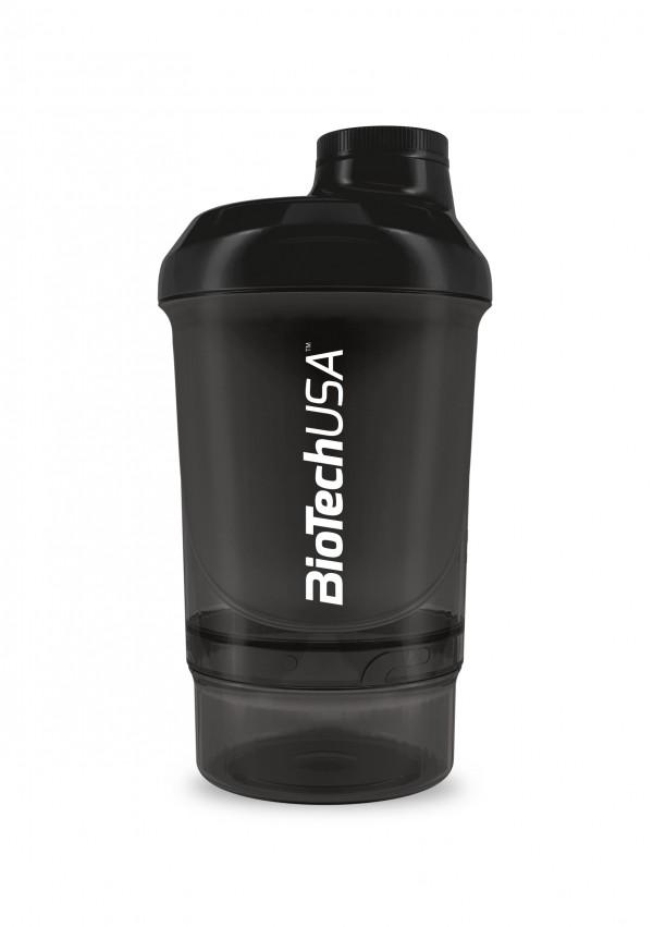 Smart Shaker Preto Transparente 300+100ml Biotech