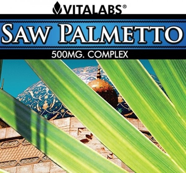 Saw Palmetto 500mg 100 Caps Vitalabs Label