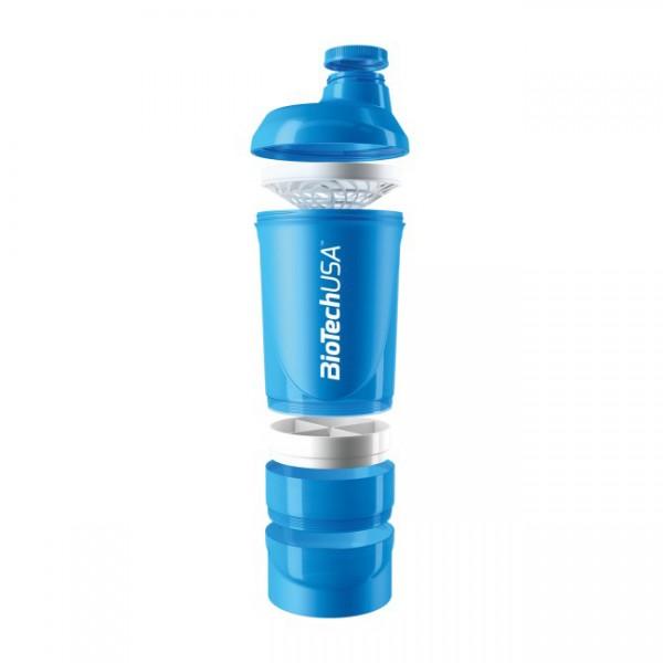 Smart Shaker Transparente Biotech Azul 600ml 4
