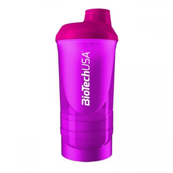 Smart Shaker Transparente Biotech Rosa 600ml