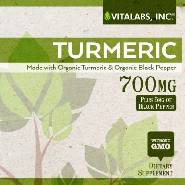 Turmeric Vitalabs 60 Label