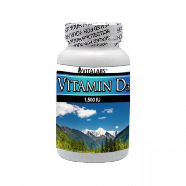 Vitamina D3 1500UI 100 Comp Vitalabs