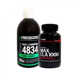 Max L-Carnitine 4834 + Max CLA - 25 dosis + 120 cápsulas