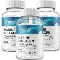 Marine Collagen with Hyaluronic Acid + Vitamin C - 3 x 120 caps (3 meses)
