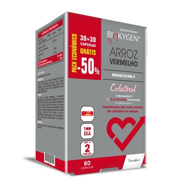 Arroz Vermelho BioKygen (Colesterol) - 30 + 30 Cápsulas