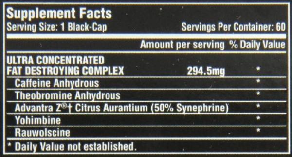 Lipo 6 Black Ultra Concentrado  - 60 cápsulas U.S.A.  - Label
