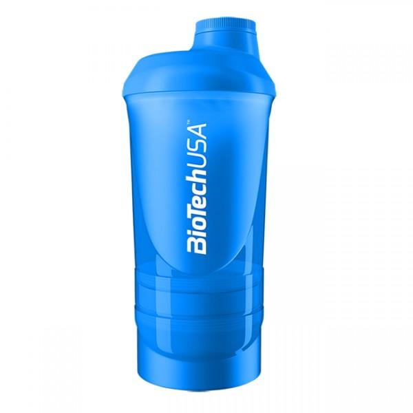 Smart Shaker Transparente Biotech Azul 600ml