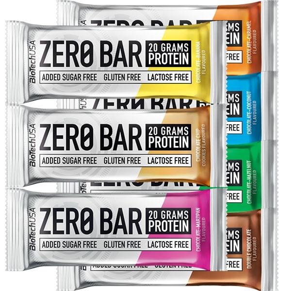 Zero Bar BioTech 7 x 50g + 2 - Biotech USA na NutriBody